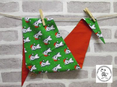 the posh dog clothing company bandanna christmas geeen weatie red 5