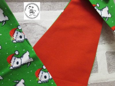 the posh dog clothing company bandanna christmas geeen weatie red 6