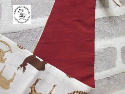 the posh dog clothing company bandanna christmas horses red 3