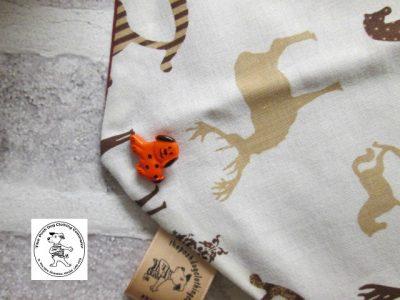the posh dog clothing company bandanna christmas horses red 4