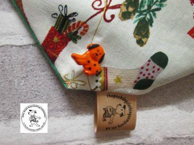 the posh dog clothing company bandanna christmas little socks green 5 1