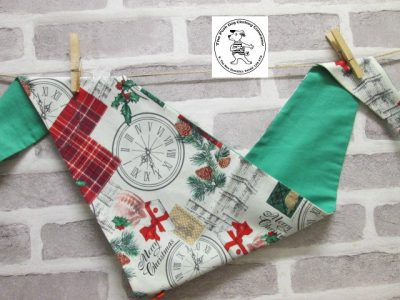 the posh dog clothing company bandanna christmas london green 1