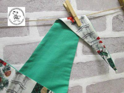 the posh dog clothing company bandanna christmas london green 2
