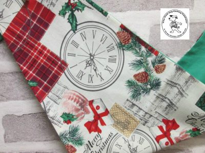 the posh dog clothing company bandanna christmas london green 3