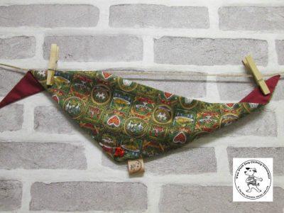 the posh dog clothing company bandanna christmas pudding red 1