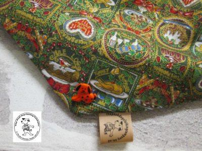 the posh dog clothing company bandanna christmas pudding red 2