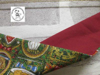 the posh dog clothing company bandanna christmas pudding red 3