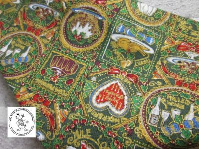 the posh dog clothing company bandanna christmas pudding red 4