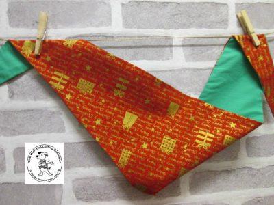 the posh dog clothing company bandanna christmas red words green 1