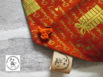 the posh dog clothing company bandanna christmas red words green 3