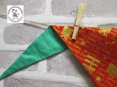 the posh dog clothing company bandanna christmas red words green 4