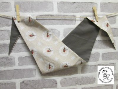 the posh dog clothing company bandanna christmas robin brown big 1