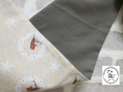 the posh dog clothing company bandanna christmas robin brown big 2