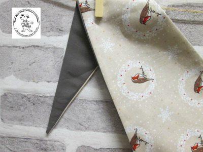the posh dog clothing company bandanna christmas robin brown big 3