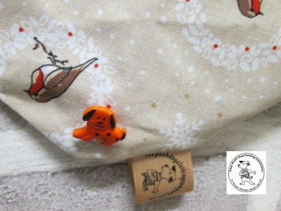 the posh dog clothing company bandanna christmas robin brown big 4 1