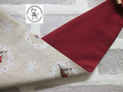 the posh dog clothing company bandanna christmas robin red 2