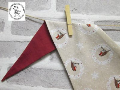 the posh dog clothing company bandanna christmas robin red 3