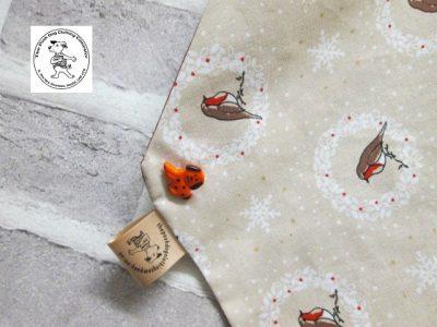 the posh dog clothing company bandanna christmas robin red 4