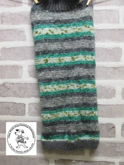 the posh dog clothing company jumpers stripes grey mint 5