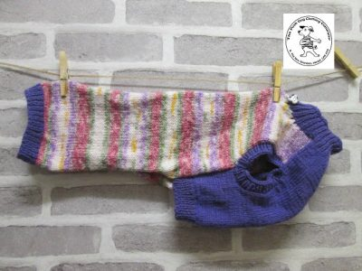the posh dog clothing company jumpers stripes purples pinks 1