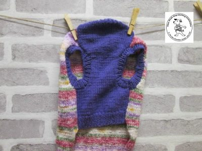 the posh dog clothing company jumpers stripes purples pinks 6
