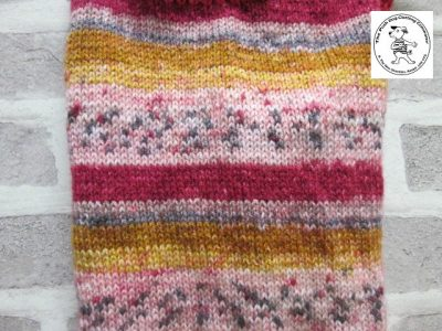 the posh dog clothing company jumpers stripes reds gold 5