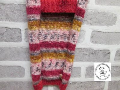 the posh dog clothing company jumpers stripes reds gold 7