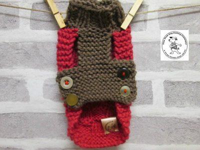 the posh dog clothing company basket weave raspberry trouffle 4