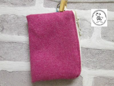 the posh dog clothing company walkies wool purse bright pink 1