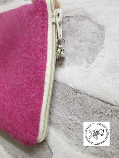 the posh dog clothing company walkies wool purse bright pink 2 rotated