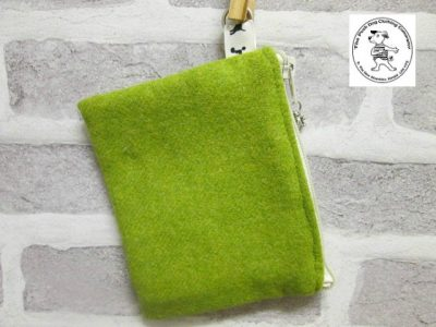 the posh dog clothing company walkies wool purse grass green 1