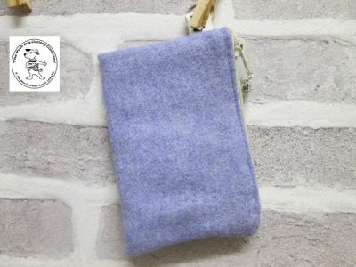 the posh dog clothing company walkies wool purse lilac 1